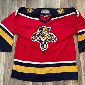 Vintage CCM Florida Panthers Red Hockey Jersey XL